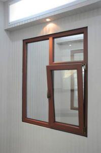 ガラスアルミニウムはアーチ形にされた傾きおよび回転開き窓のWindowsを組み立てた