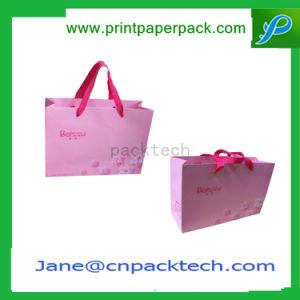 Papier Kraft de gaufrage personnalisé imprimé Sac cadeau un sac de shopping cosmétique sac sacs à main des sacs de mode d'emballage