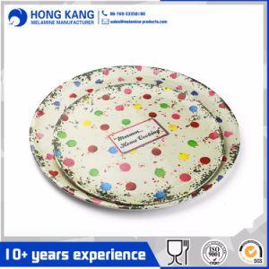 Dîner d'aliments sûrs partie plaque décorative en mélamine ronde