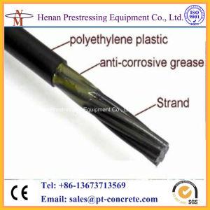 MonostrandアンカレッジのためのPost-TensioningシステムUnbonded PEの上塗を施してあるプレストレスト繊維