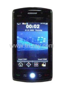 Telefono mobile di F035 GPS WiFi Java TV con la sfera di orbita di navigazione e la memoria 2GB