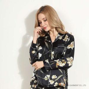 fait sur mesure Les femmes d'impression pyjamas, de vêtements de nuit des femmes à manchon long, Floral femmes Vêtements de nuit