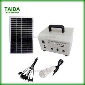 Sistemas de Energía Solar en el hogar con luz y el ventilador