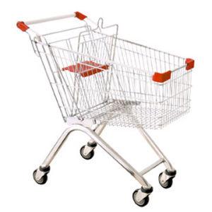 Haute capacité panier Chariot de supermarché en acier galvanisé (HY-80A)
