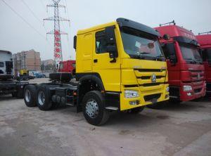 Sinotruk HOWO 6X4のトラクターのトラック- 50tonトレーラーを強く引くこと