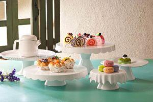 La mélamine plat dessert/High-Tea plat à trois couches (WT19910S)