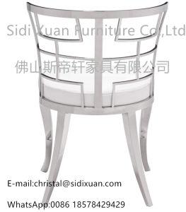 居間の家具のための椅子を食事するModerの幾何学的で白いLeatherette