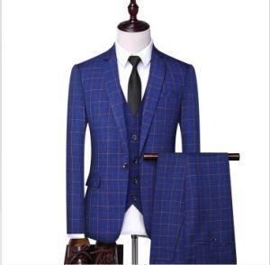 Trajes para hombre, trajes de tela de cuadros británicos de alta gama, trajes de negocios hechos a medida