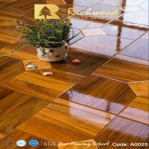 El PVC 12,3 mm de alto brillo de la madera laminada de madera laminada de madera
