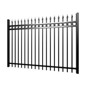 Commerce de gros 6'x8' piquet de clôture métallique de jardin, clôture Panneau mural