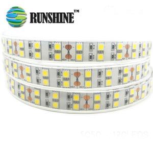 Il Ce LED flessibile approvato RoHS mette a nudo il bianco caldo di doppia riga di SMD5050 120LEDs/M