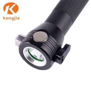 刃物が付いている多機能の太陽懐中電燈の安全ハンマーライトUSB再充電可能なLEDのトーチ