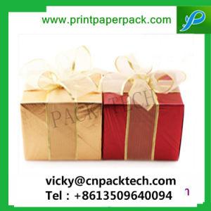 Delicado presente diseñado Caja de papel de regalo de Navidad papel de embalaje Caja con Bowknot pastel para niños