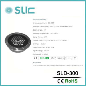 Indicatore luminoso sotterraneo impermeabile del LED per il giardino