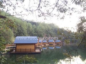 강에 나무로 되는 집을%s 뜨 플래트홈