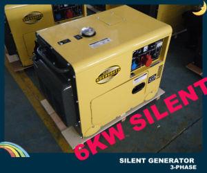 7.5kVA driefasenSoundproof Diesel Generator met SGS van Ce ISO BV