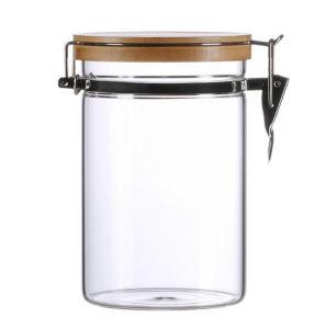 Les écrous de céréales de Miel Lait bouteille en verre de stockage de la cuisine la nourriture Jar