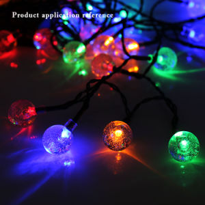 Vielzweckfeier-Wesensmerkmale-buntes Luftblasen-Kugel-Zeichenkette-Solarlicht