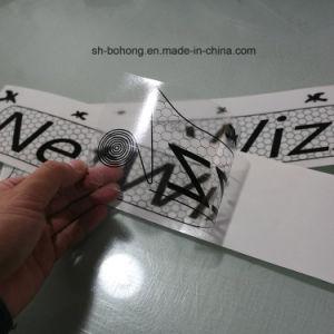 Precio barato una ventana personalizada atracción electroestática Sticker adhesivo transparente