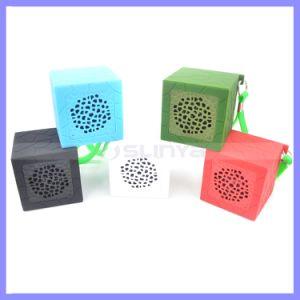Praça de silicone à prova de água portátil antichoque cartão TF Sport Mini-Novidade Alto-falantes sem fio Bluetooth MP3 Altifalante Chuveiro MP4
