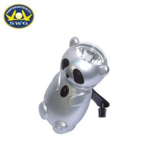 0.5W子供のためのパンダによって形づけられる手動クランクの懐中電燈