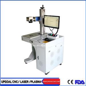 Materiales metálicos de 20W marcadora láser de fibra con dispositivo giratorio