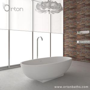 回復可能な人工的な石造りの大理石の質の容易な維持の支えがない浴槽