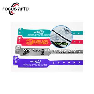 실리콘 또는 처분할 수 있거나 탄력 있는 RFID 팔찌를 주문 설계하십시오