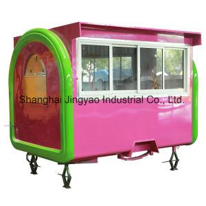 Kleine Laufkatze-Karre für den Verkauf der Eiscreme und der Imbisse