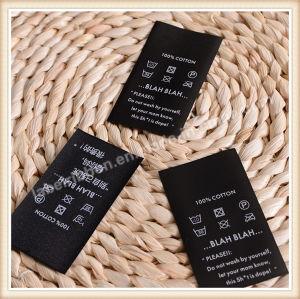 Tejido de alta calidad de la etiqueta ropa de etiqueta del logotipo de la etiqueta de marca