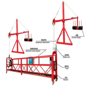 Zlp pequena antena de elevação de alumínio plataforma de velocidade ajustável