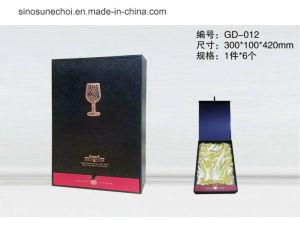 ツールの皿との一流PUの革ワイングラスのびんのギフト用の箱の包装ケース
