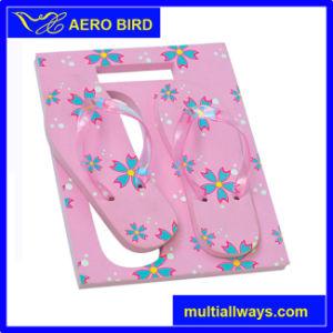 В форме квадрата EVA подарок Flip флоп с цветком печать