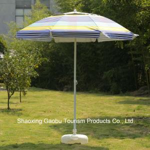 紫外線保護傾きの鋼鉄ビーチパラソル