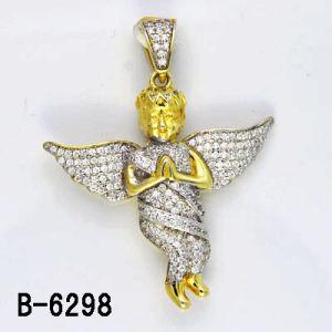 Os novos estilos 925 Sterling Silver Micro configuração pendente de anjo