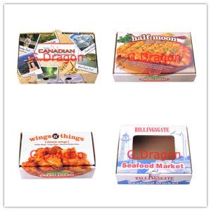 Boîte de pizza coins de verrouillage pour la stabilité et la durabilité (PIZZ-010)