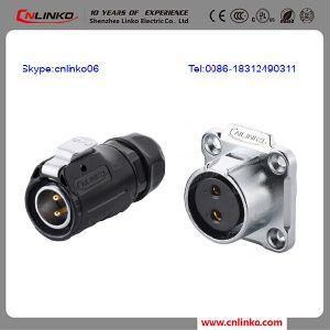 Luz LED aprobado por UL macho hembra de 2 polos Conector del cable de alimentación