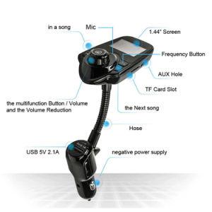 Shenzhen 5V 2.1A T10 Manos Libres Inalámbrico Bluetooth Transmisor FM Transmisor FM Coche T10