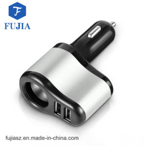2 puertos USB Cargador de coche Celular Samrt teléfono móvil iPhone con el encendedor de cigarrillos para iPhone y Samsung 5V/3.1A