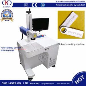 Marcação de fibra máquina a laser para impressão do logótipo do disco USB Marca de plástico de Metal
