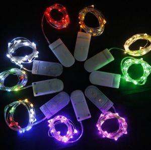 20LED 2mボタンのセル電池式LED妖精ストリングライト