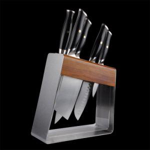 Hoja de acero Destch duradera cortar en rodajas de corte de emparejamiento de afilado de cuchillas de fileteado herramienta menaje de cocina (RM98)