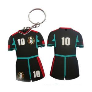 Sport-Hemd-Schlüsselring Fabrik-Großverkauf-des preiswerten Dekoration-Geschenk-kundenspezifischer weicher PVC/Silicone (023)