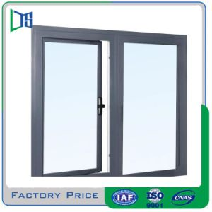 중국 목제 곡물 완료 알루미늄 여닫이 창 Windows