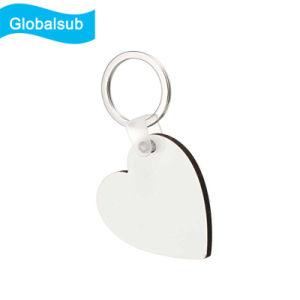 カスタム昇華印刷の白人のブランクMDF Keychain