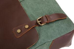 Crazy Horse toile mallette en cuir sac Messenger