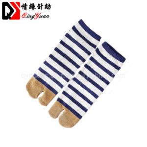 Calzini respirabili casuali delle barrette della banda due del pavimento unisex delle donne