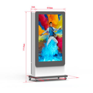 Все в одном для использования вне помещений Емкостный сенсорный экран 55-дюймовый отдельностоящие Тотем