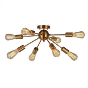 現代ブラシのペンダント灯をハングさせる真鍮の居間のシャンデリア