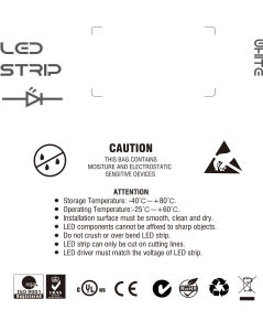 Indicatore luminoso di striscia del certificato 2835 60LEDs/M 14.4W/M 24V LED del Ce dell'UL